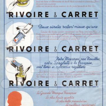 Publicite pour Rivoire et Carret : 1953