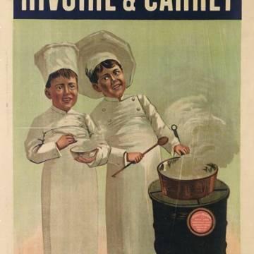 Affiche vintage Rivoire et Carret : les chefs