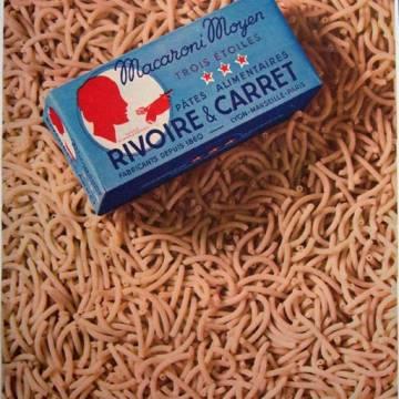 Publicité vintage Rivoire et Carret : le macaroni moyen