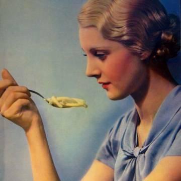 Affiche vintage Rivoire et Carret : la femme