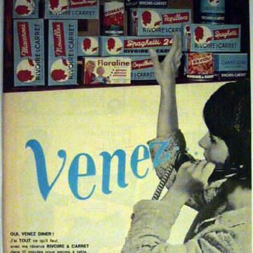 Affiche vintage Rivoire et Carret : venez choisir vos pâtes