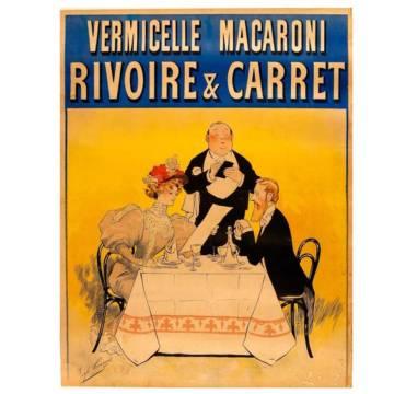 Affiche vintage Rivoire et Carret : le couple