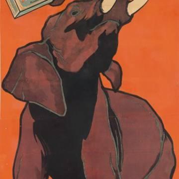 Affiche vintage Rivoire et Carret : l'éléphant