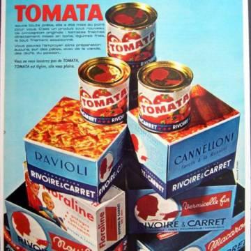 Affiche vintage Rivoire-et-Carret : la sauce tomate