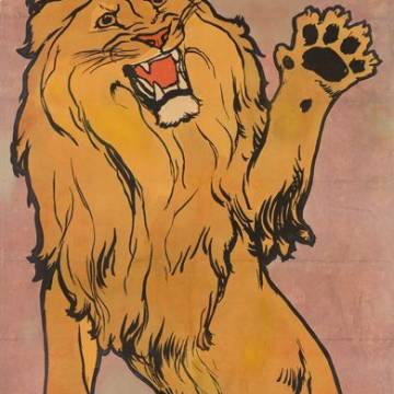 Affiche vintage Rivoire-et-Carret : le lion